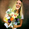 Check this sweet bohemian-style bridal bouquet Melissa whipped up! It's everything a gypsy bride could ever want!