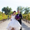 The ceremony took place at Casa Rodena, a lovely winery in Albuquerque.
