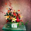 Wartah, Asiatic Lilies, Chinese Lanterns, Roses, Scabiosa, James Storey Orchids, Jasmine Vine