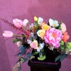 Coral Charm Peonies, French Tulip, Astilbe, Poppies, Viburnum