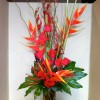 Helaconia, Roses and Palm Leaves, Ilex Berry